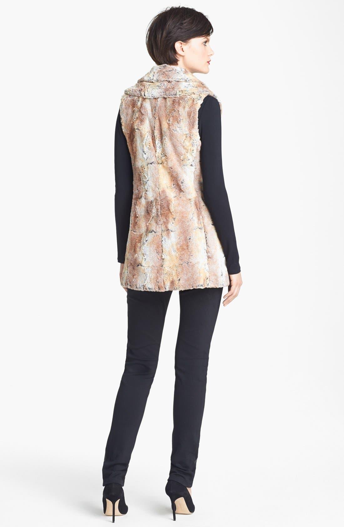 Alternate Image 2  - Alice + Olivia 'Annistyn' Long Faux Fur Vest