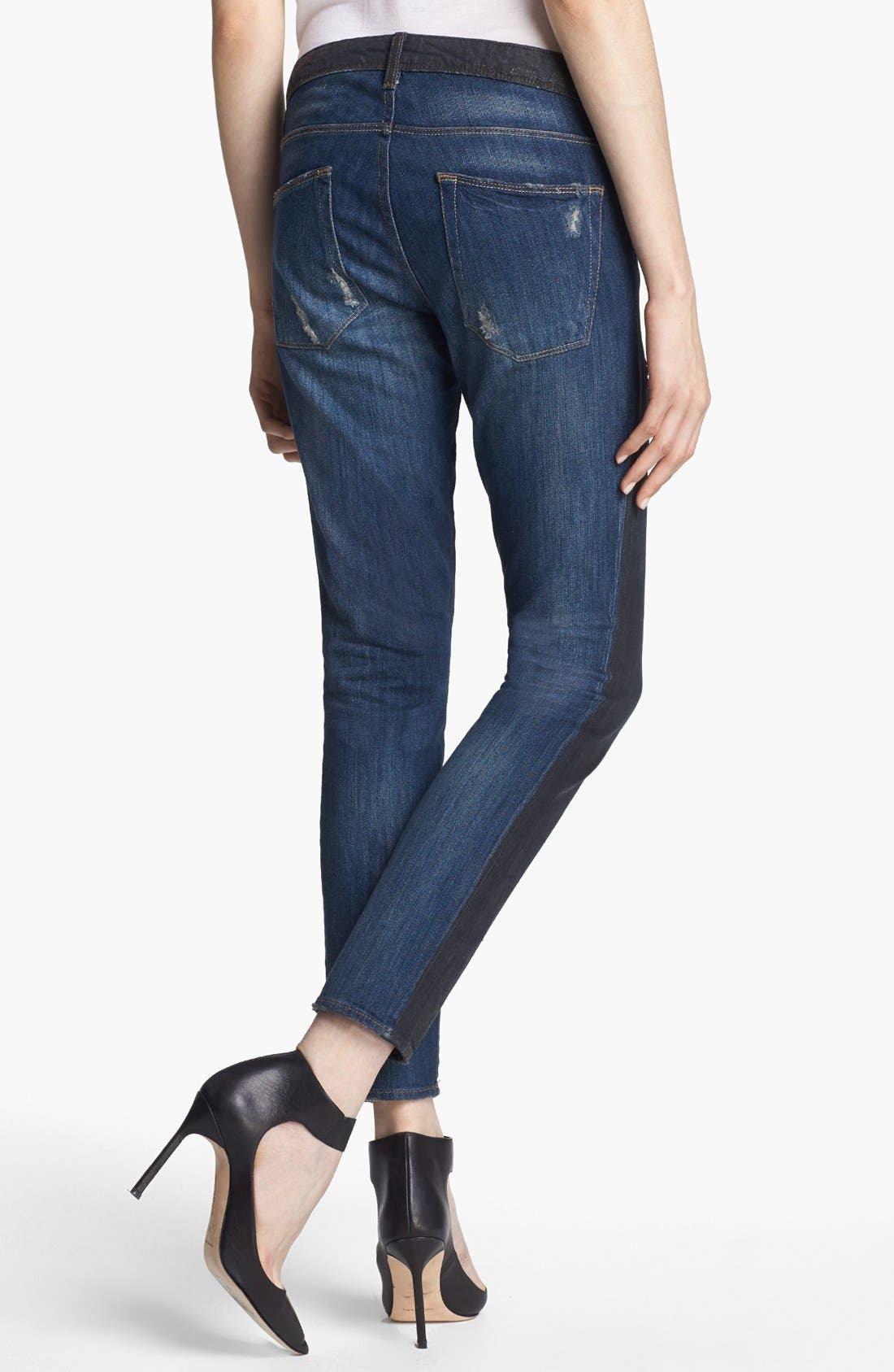 Alternate Image 3  - EACH X OTHER Waxed Two Tone Boyfriend Jeans