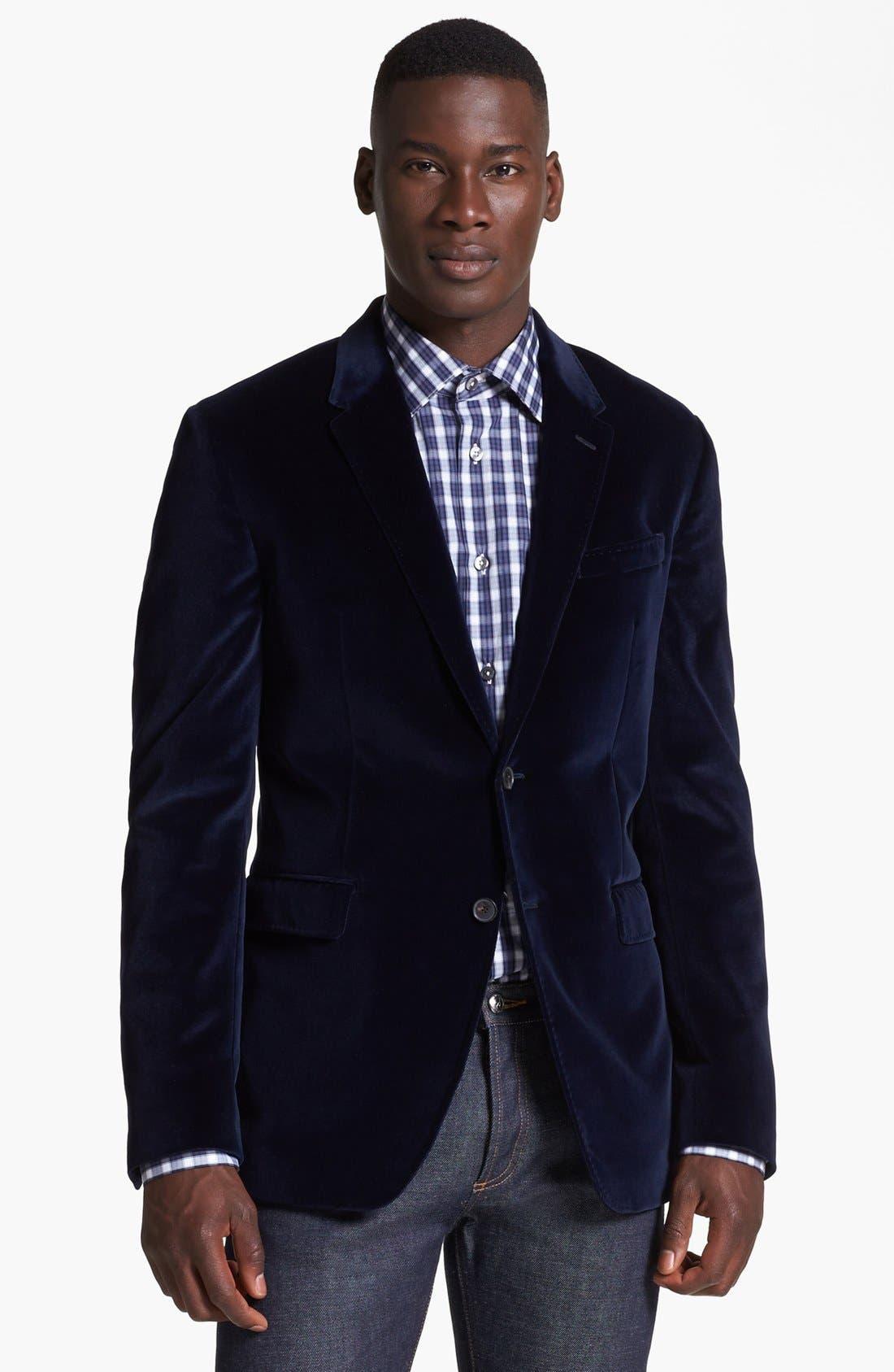 Alternate Image 1 Selected - Paul Smith London Velvet Blazer