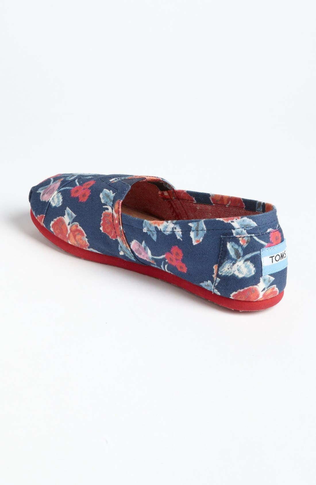 Alternate Image 2  - TOMS 'Classic - Navy Floral' Slip-On (Women)