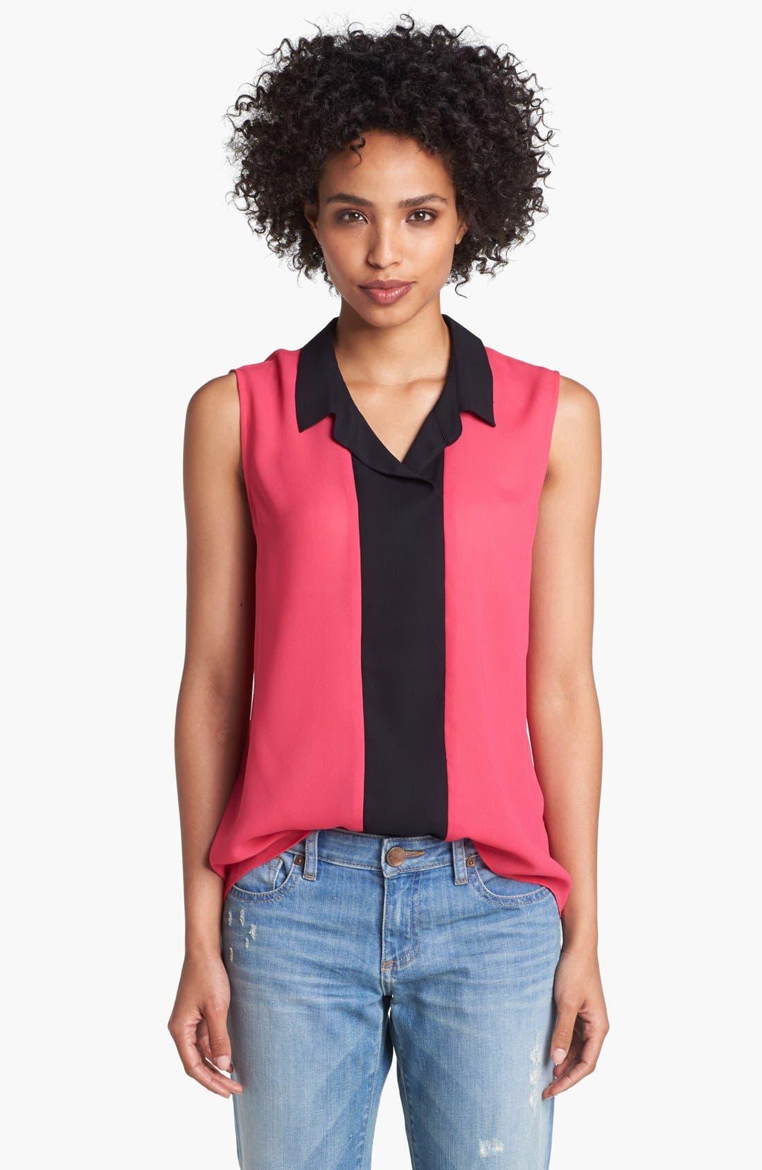 Main Image - Halogen® Colorblock Sleeveless Top (Regular & Petite)