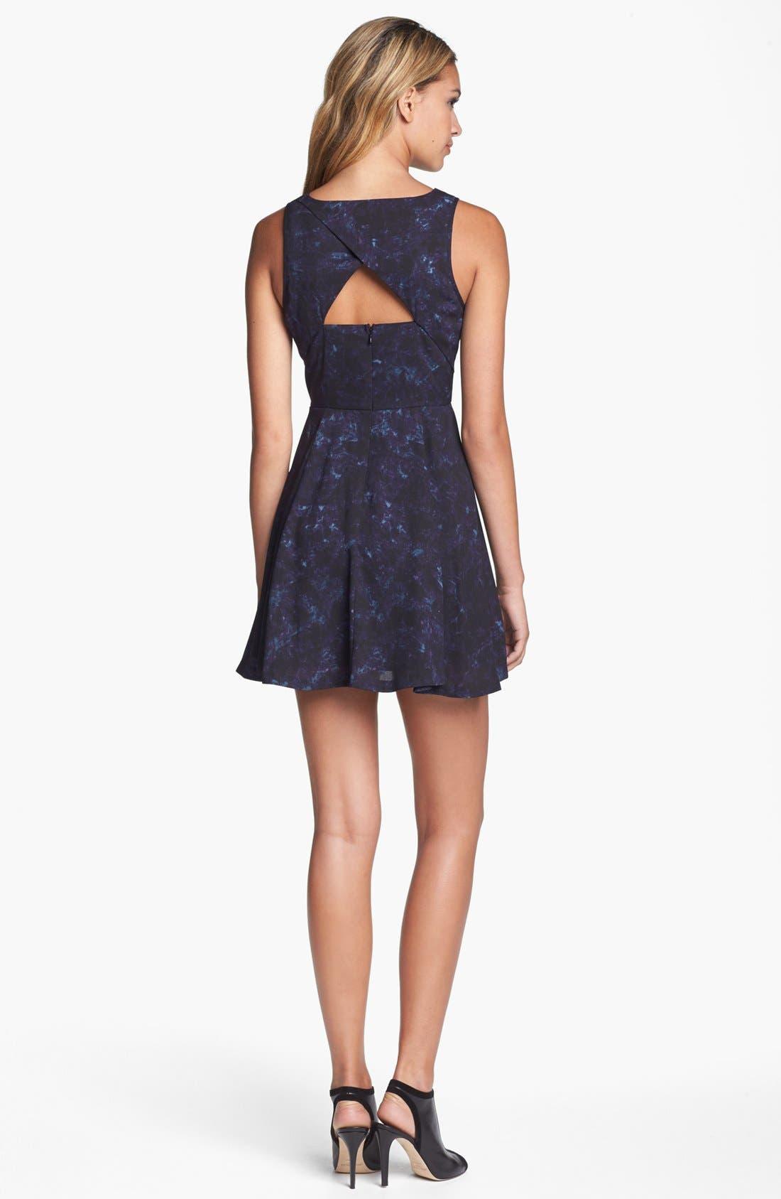 Alternate Image 2  - BB Dakota 'Della' Print Fit & Flare Dress