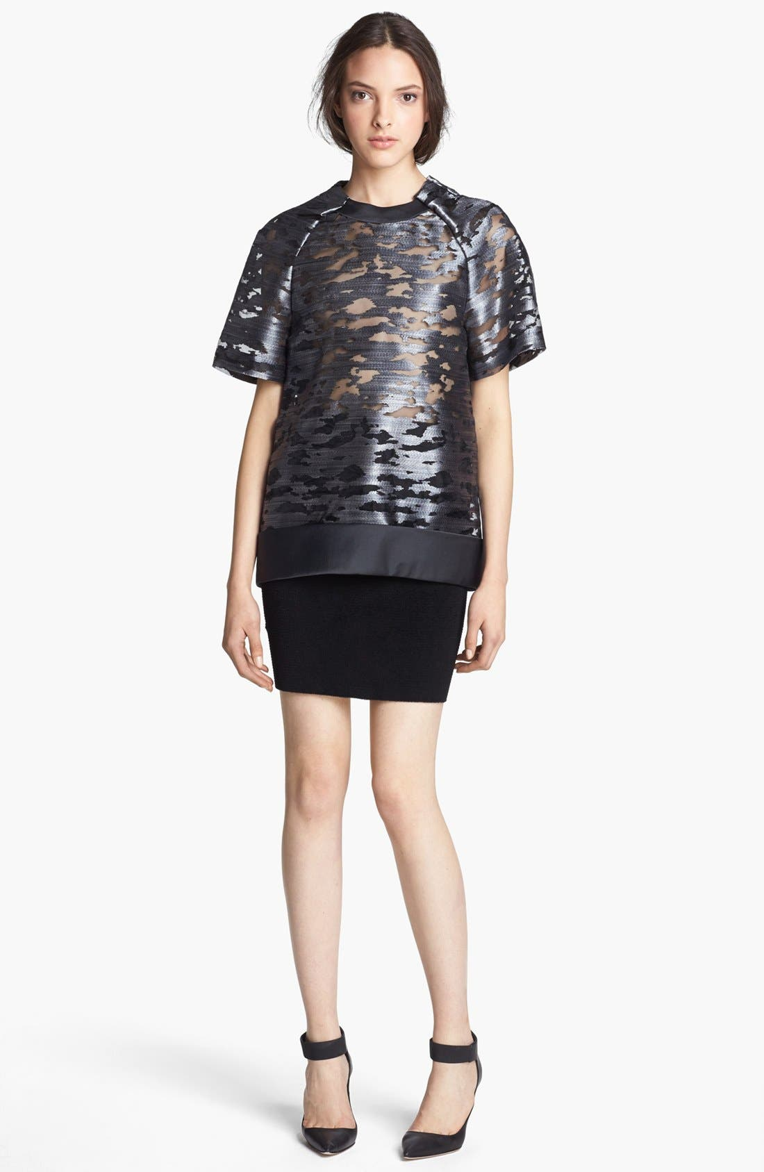 Alternate Image 3  - Alexander Wang Fuzzy Stripe Pencil Skirt
