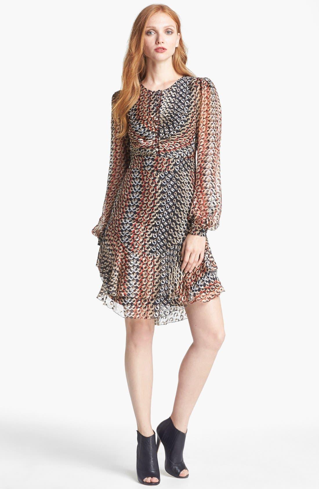 Alternate Image 1 Selected - Diane von Furstenberg 'Kali' Silk Blend A-Line Dress