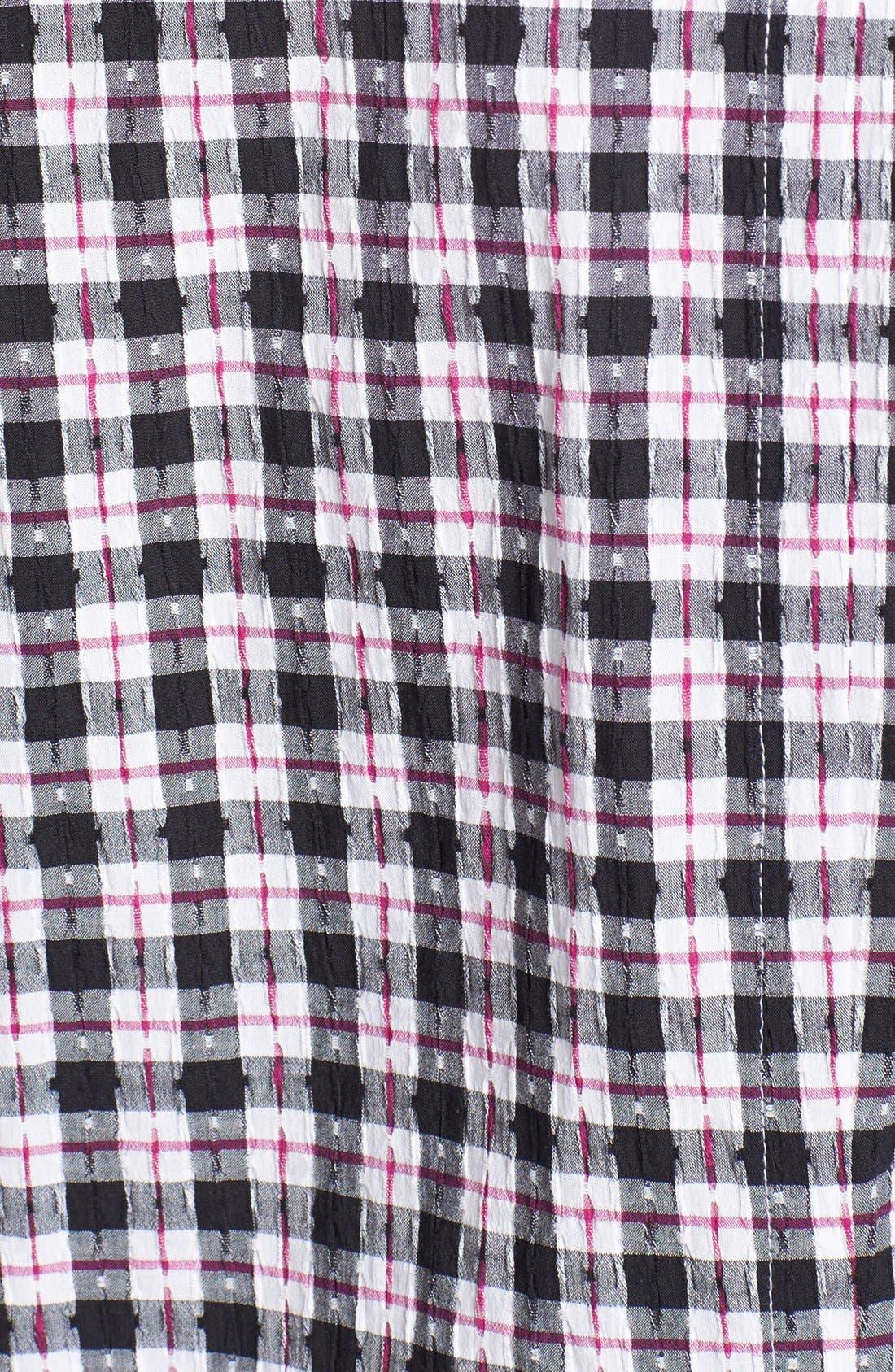 Alternate Image 3  - Foxcroft Check Stretch Cotton Shirt