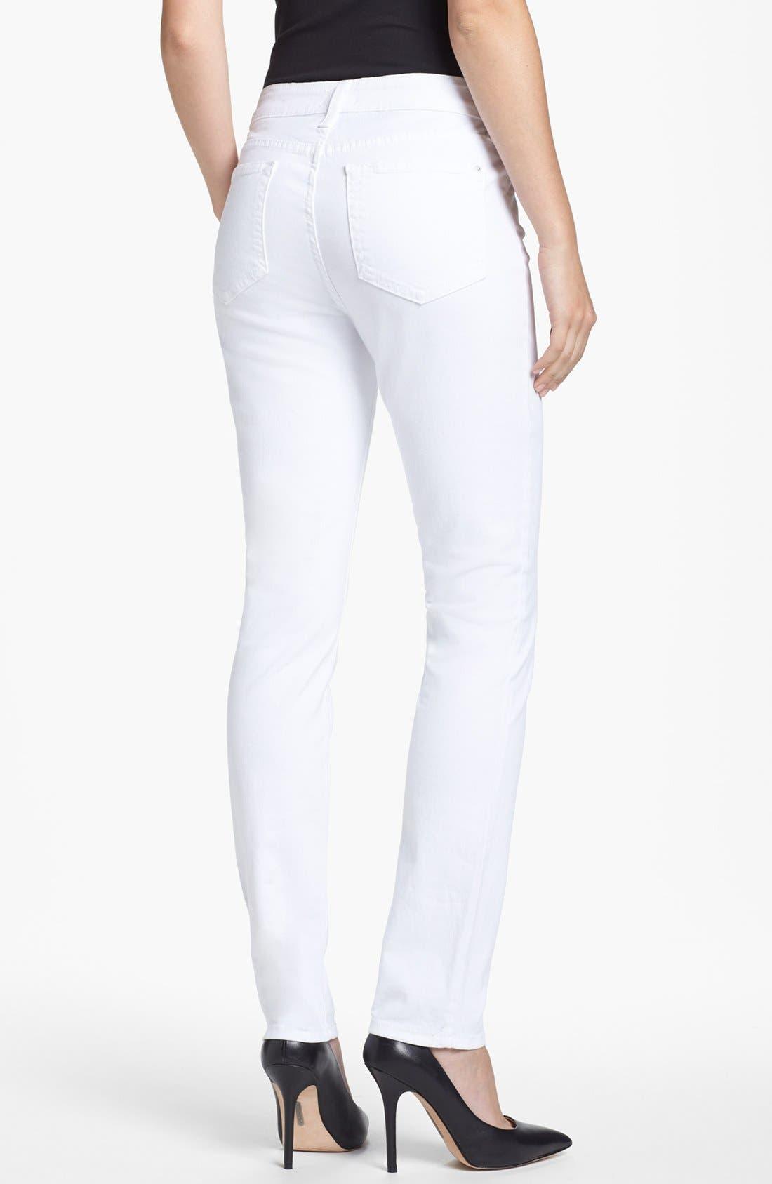 Alternate Image 3  - NYDJ 'Jade' Colored Stretch Skinny Jeans