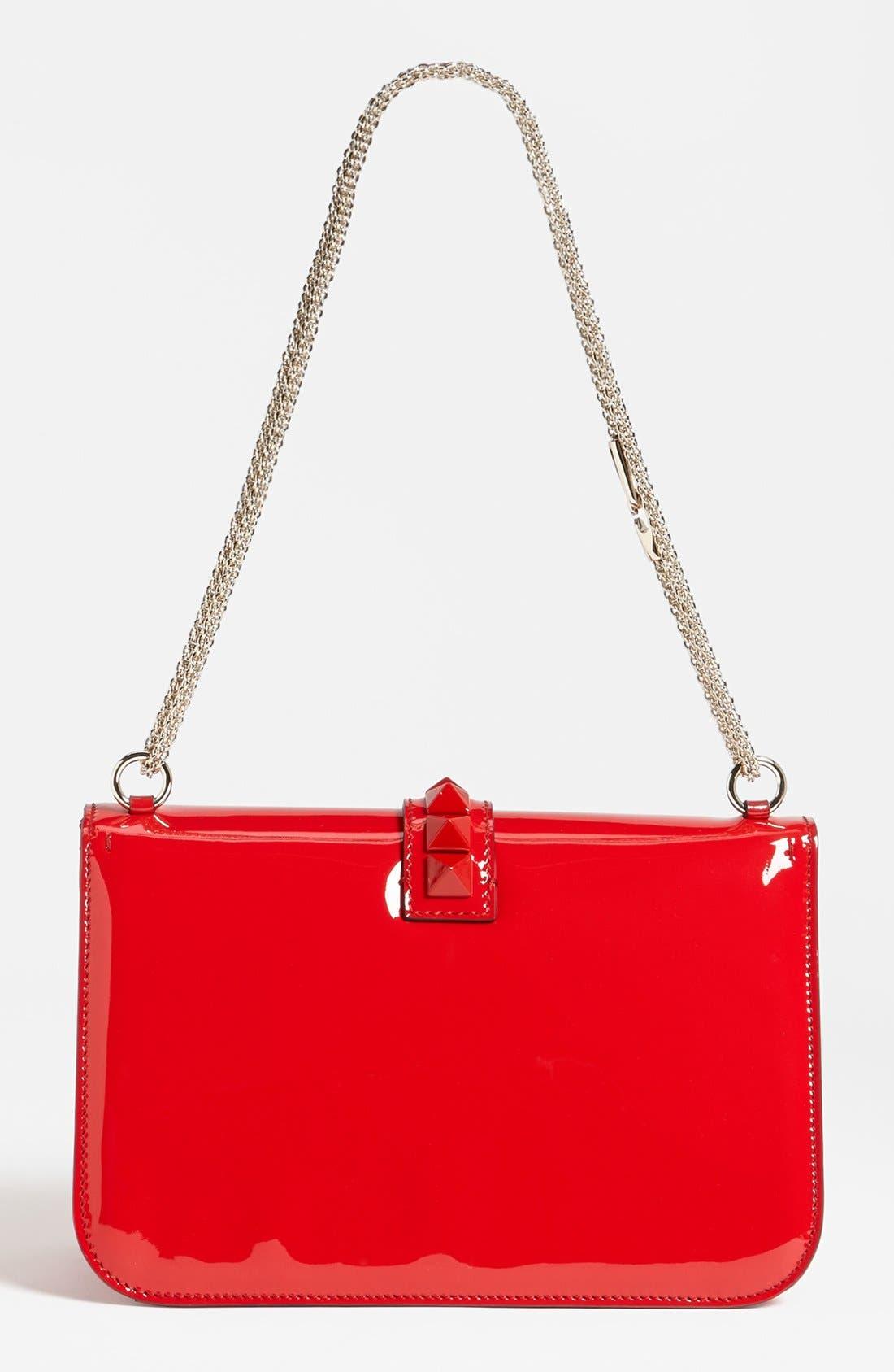 Alternate Image 4  - Valentino 'Punkouture - Lock' Leather Shoulder Bag