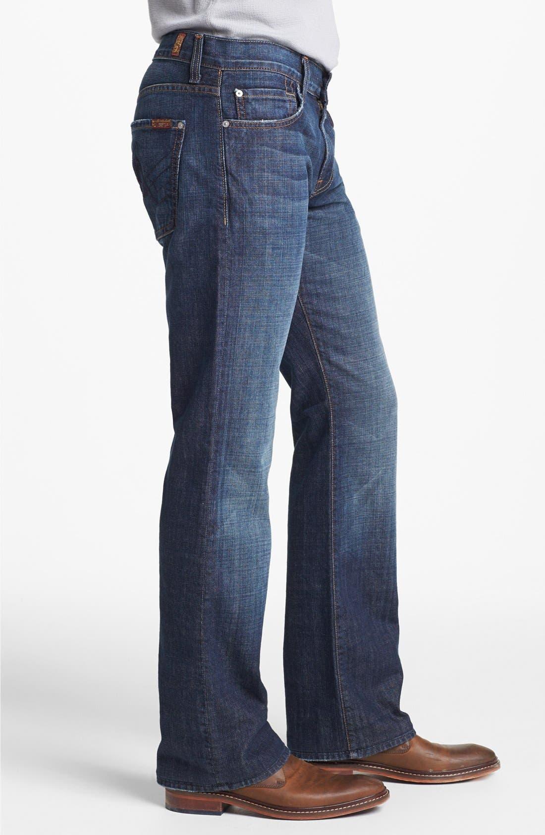 Alternate Image 3  - 7 For All Mankind® Brett Bootcut Jeans (New York Dark)