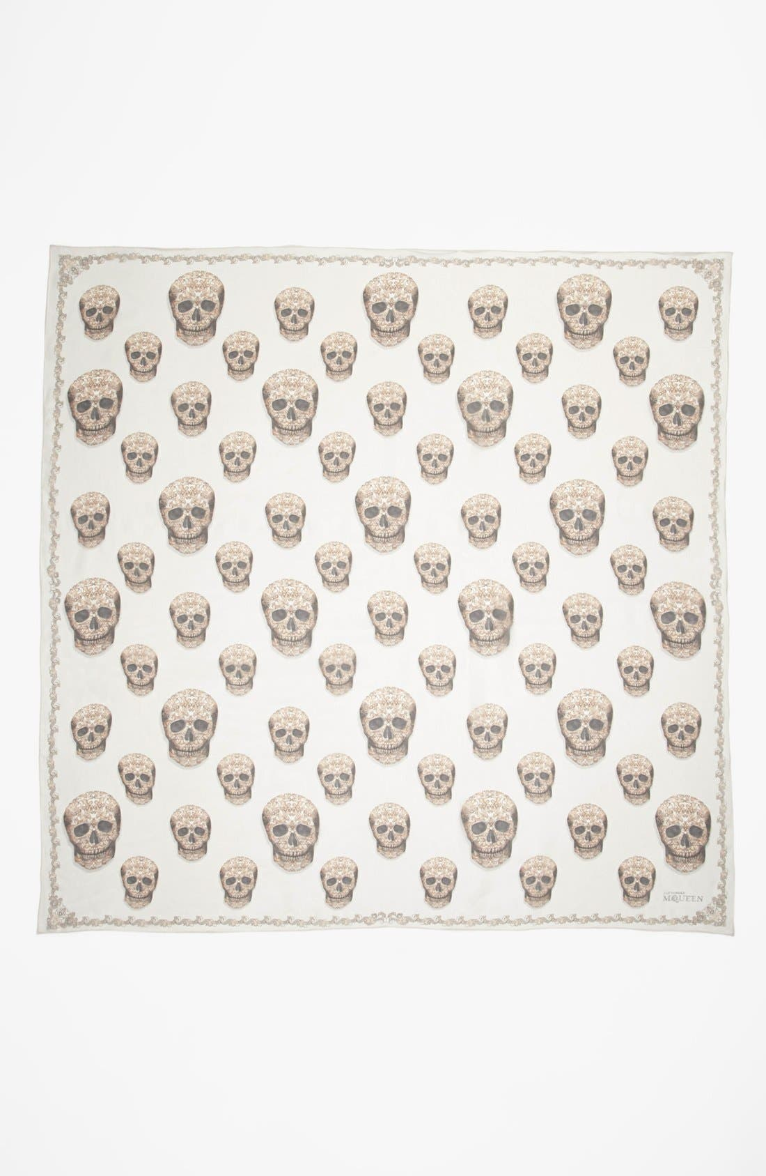 Alternate Image 2  - Alexander McQueen 'Lacy Skull' Scarf