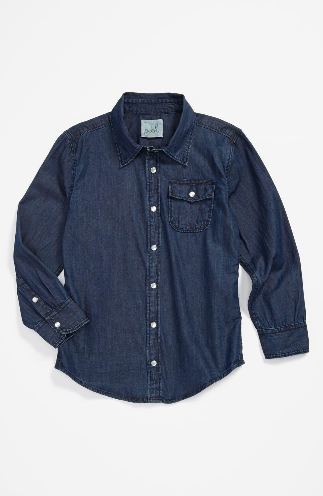 Main Image - Peek 'Logan' Chambray Shirt (Big Boys)