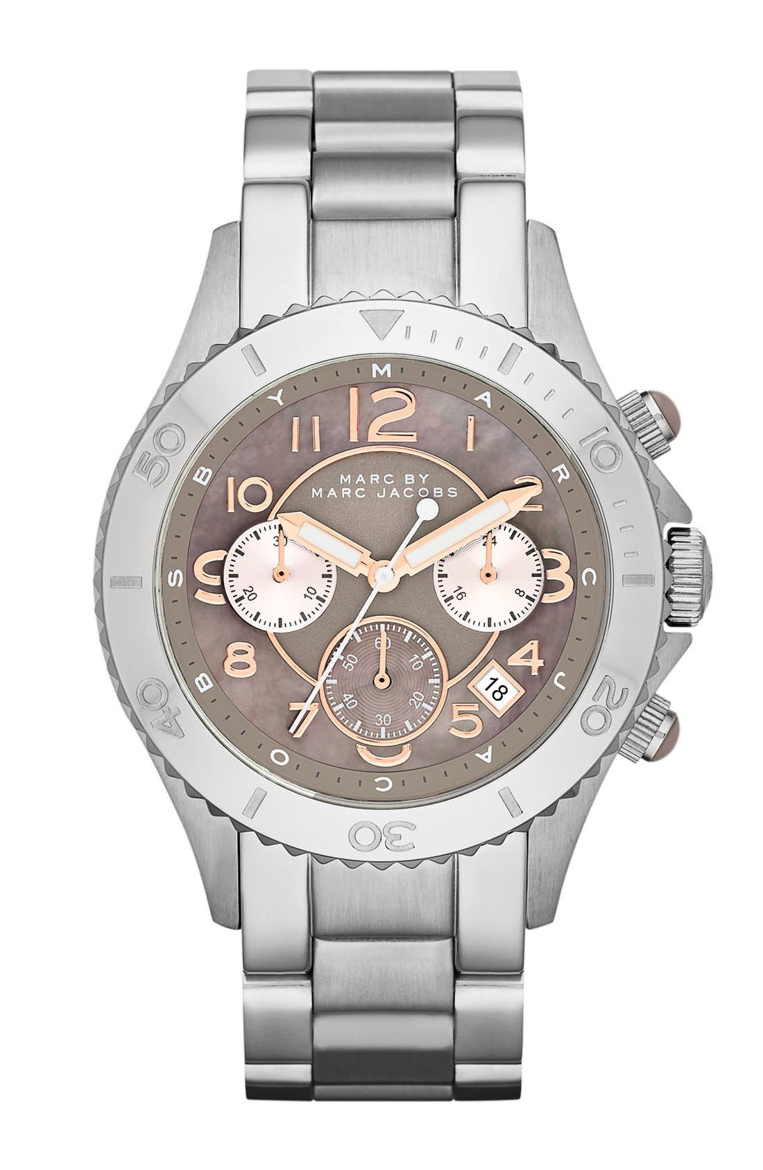 Main Image - MARC BY MARC JACOBS 'Rock' Chronograph Bracelet Watch, 40mm