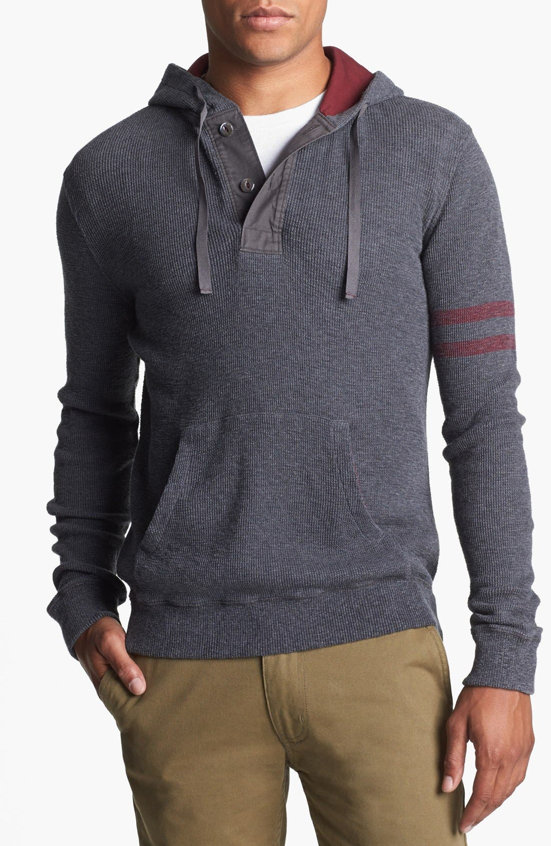 Main Image - J. Press York Street Hooded Thermal Henley Pullover
