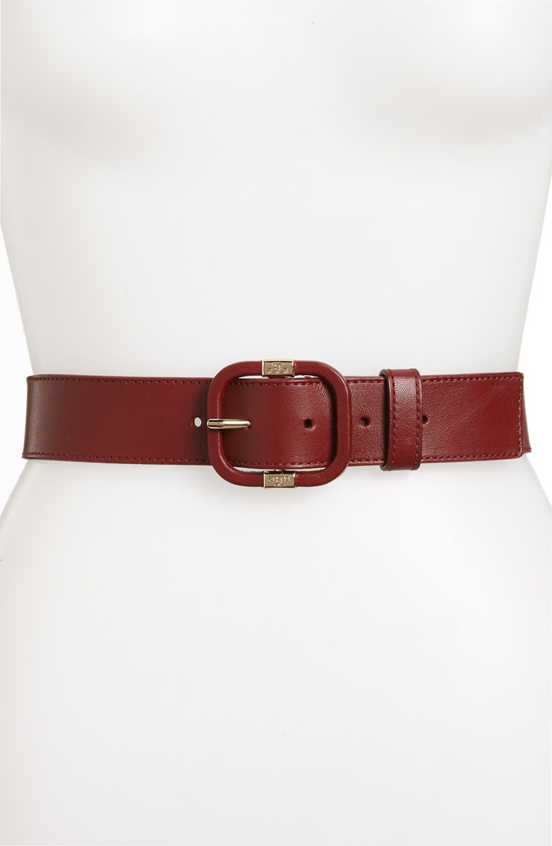 Alternate Image 1 Selected - Tory Burch Leather Belt