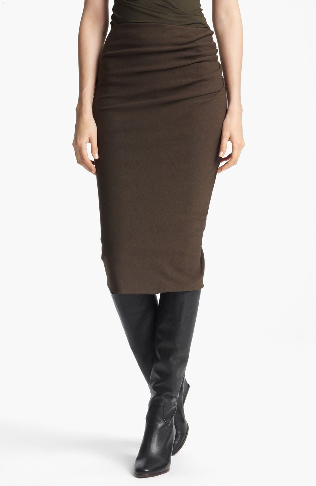 Main Image - Donna Karan Collection 'Sculpted Body' Draped Jersey Skirt