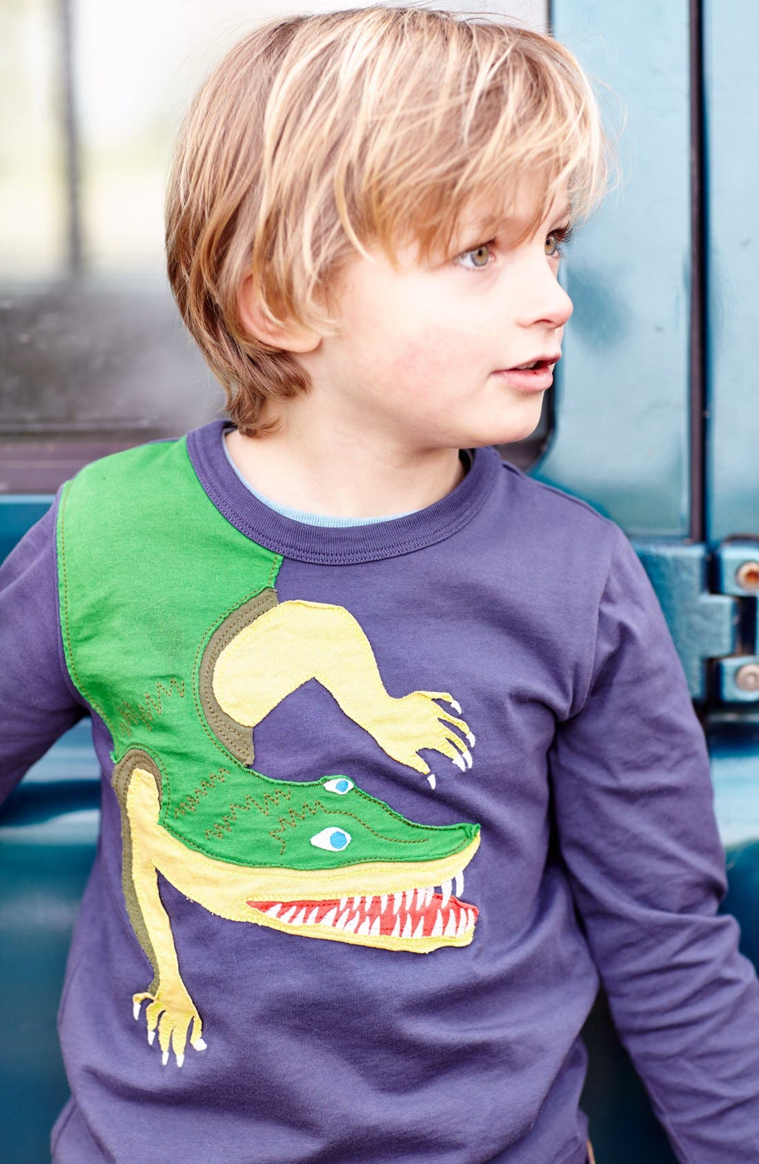 Alternate Image 2  - Mini Boden 'Big Creature' Appliqué T-Shirt (Toddler Boys, Little Boys & Big Boys)