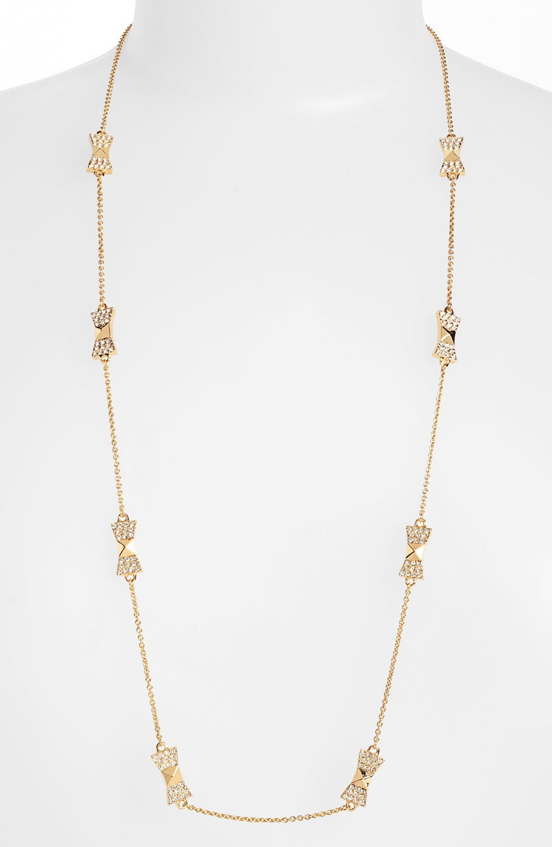 Main Image - kate spade new york 'locked in' long bow necklace