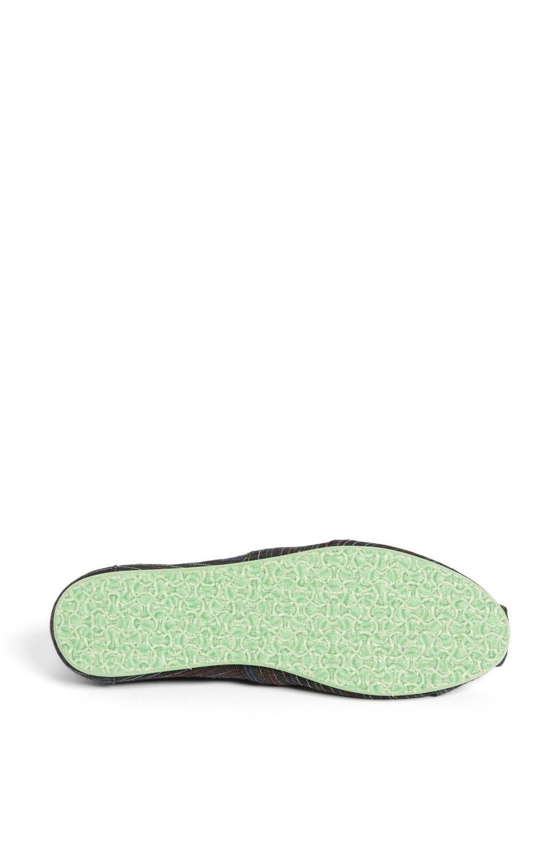 Alternate Image 4  - TOMS 'Classic - Stripe Lime Pop' Slip-On (Women)