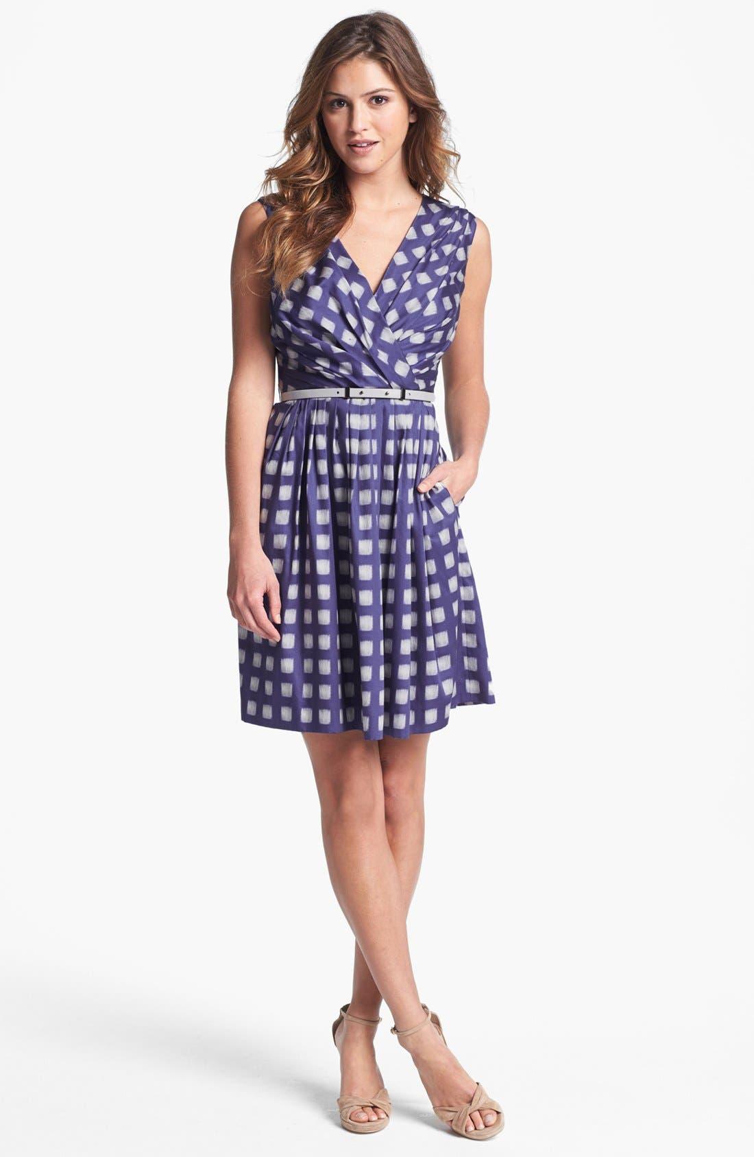 Alternate Image 1 Selected - Ivy & Blu Print Cotton Dress (Regular & Petite)