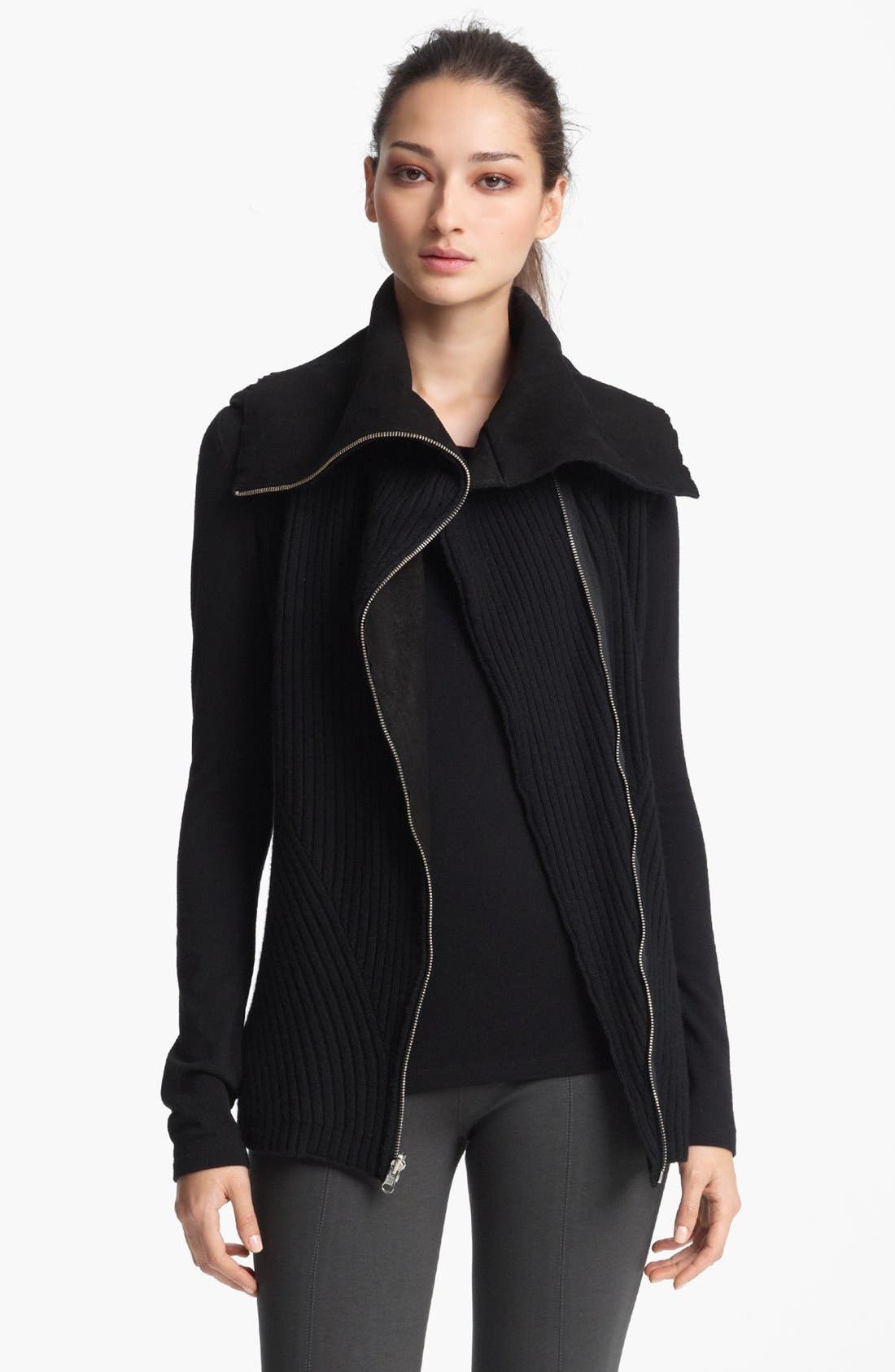 Main Image - Donna Karan Collection Wool & Cashmere Sleeveless Knit Jacket