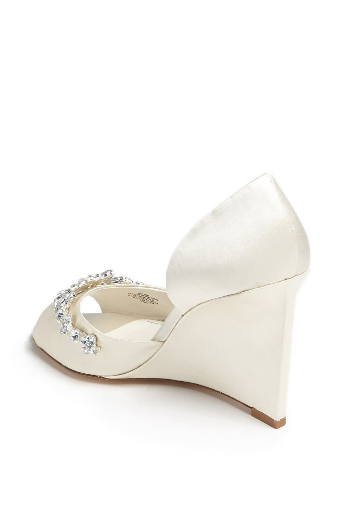 'Winter' Wedge Sandal,                             Alternate thumbnail 2, color,                             Ivory Satin