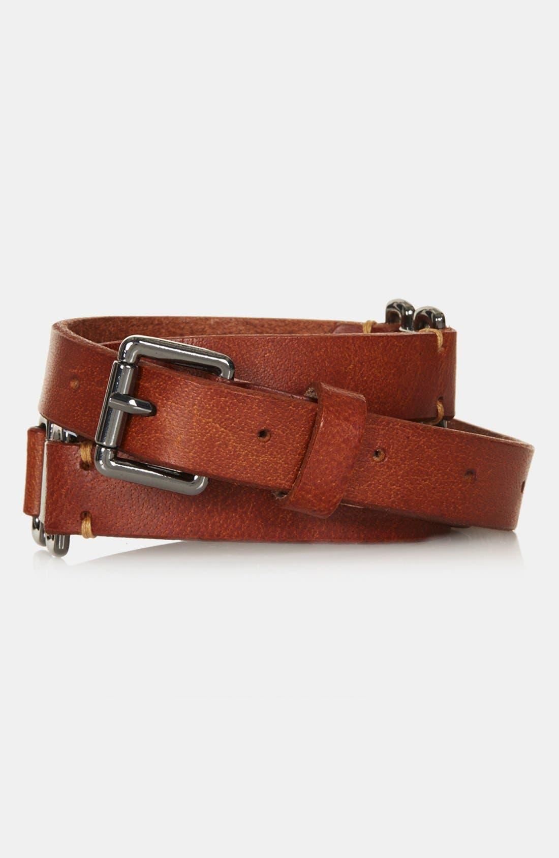 Alternate Image 1 Selected - Topshop Leather Belt