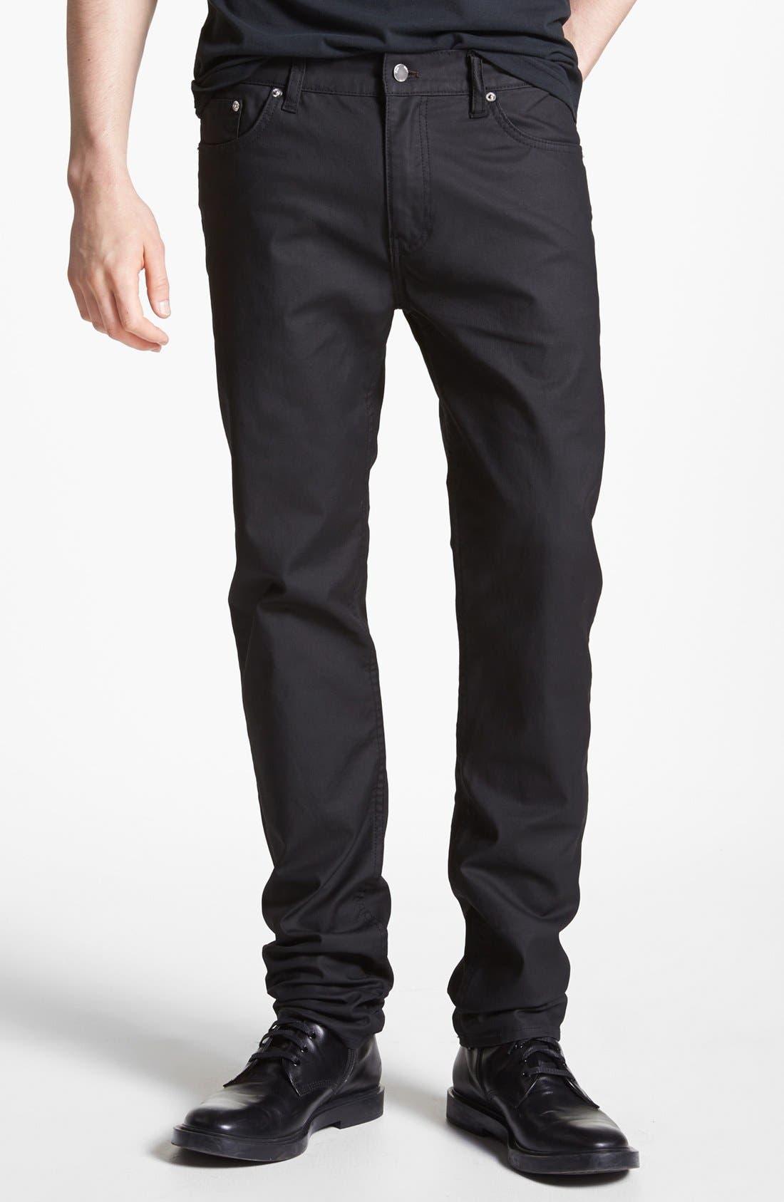 Alternate Image 1 Selected - BLK DNM 'Jeans 5' Slim Straight Leg Jeans (Orchard Black)