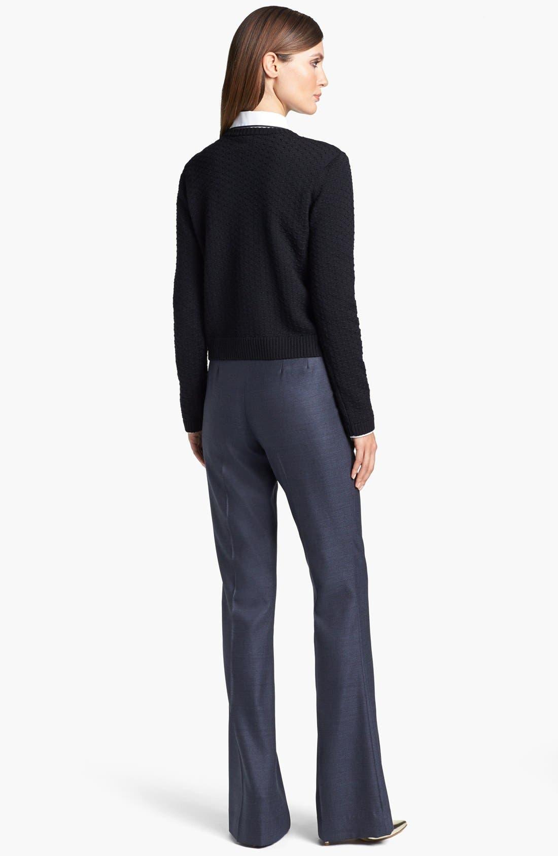 Alternate Image 3  - St. John Yellow Label Shoulder Snap Eyelet Knit Sweater