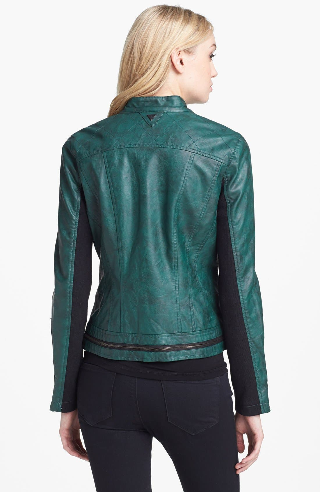 Alternate Image 2  - Sam Edelman Faux Leather Moto Jacket (Online Only)