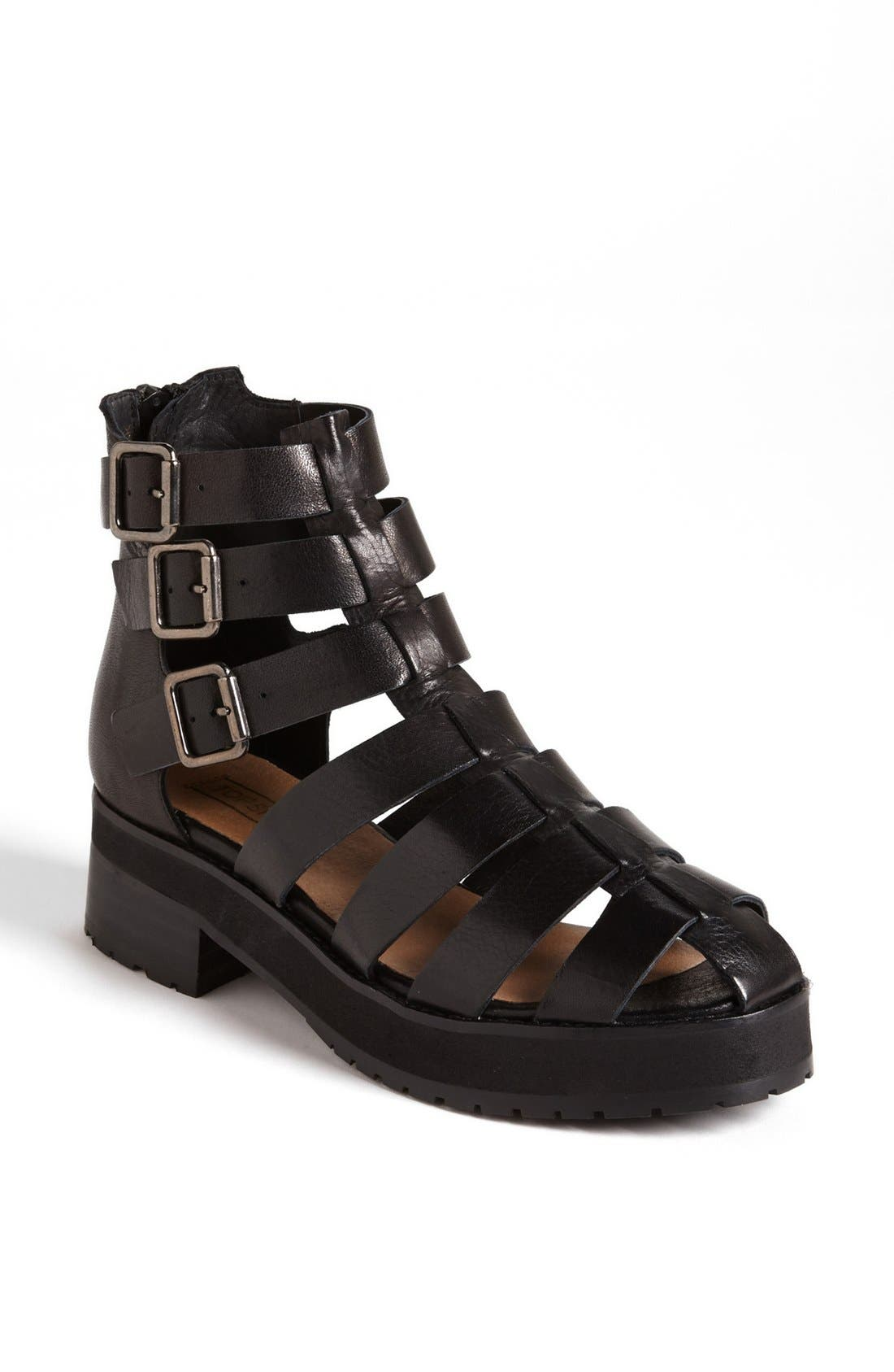 Alternate Image 1 Selected - Topshop 'Aladin' Gladiator Strap Boot