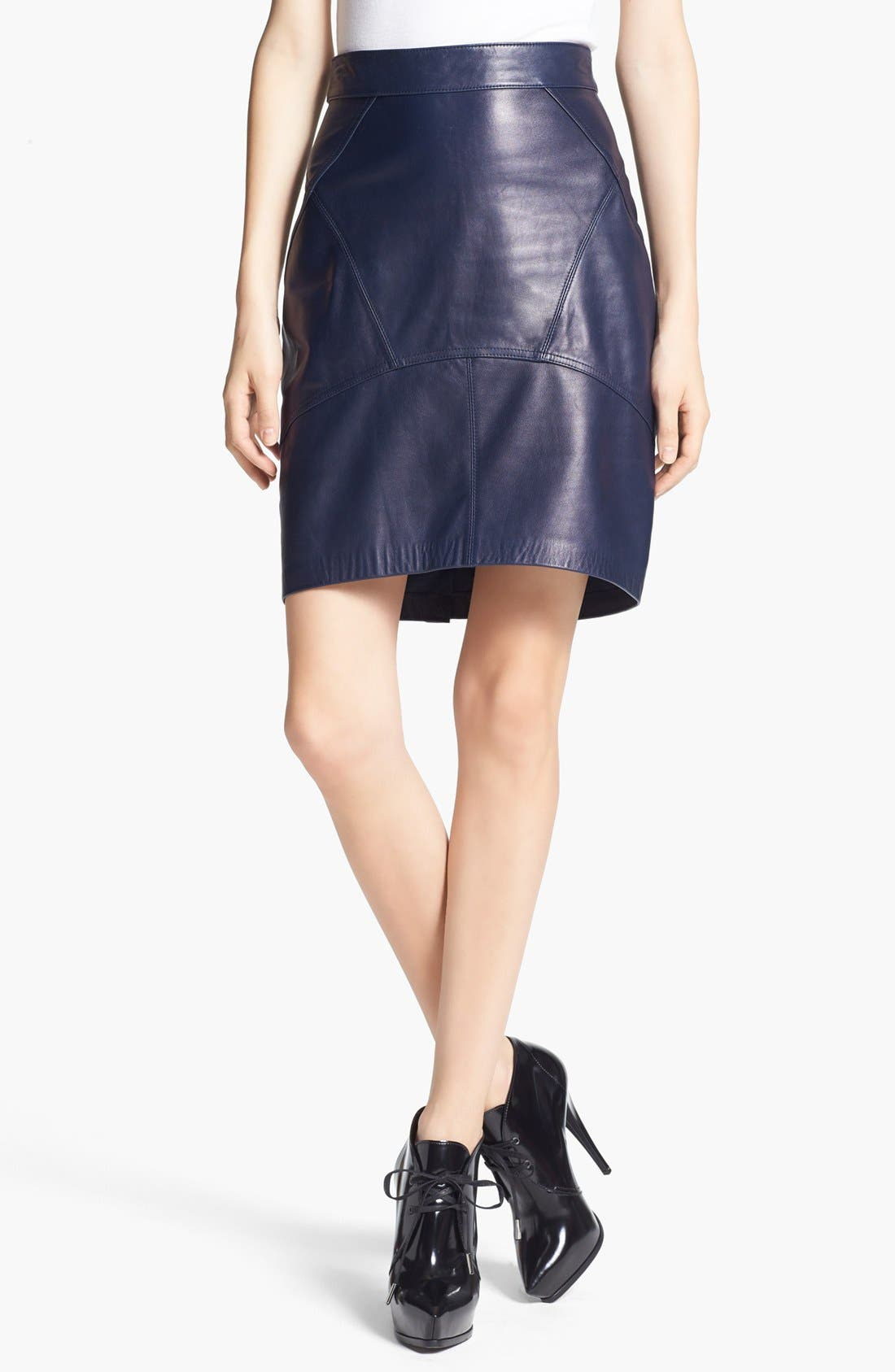 Alternate Image 1 Selected - T by Alexander Wang Lightweight Leather Skirt