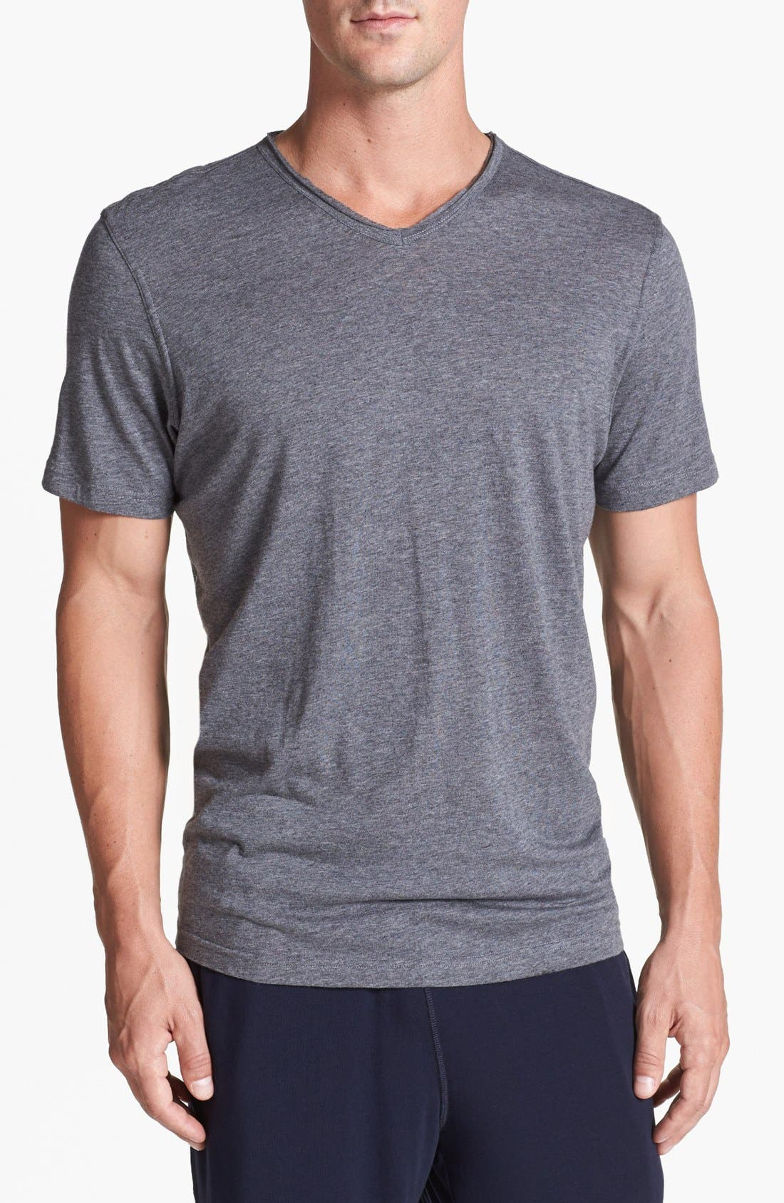 Alternate Image 1 Selected - Daniel Buchler Cotton Blend V-Neck T-Shirt