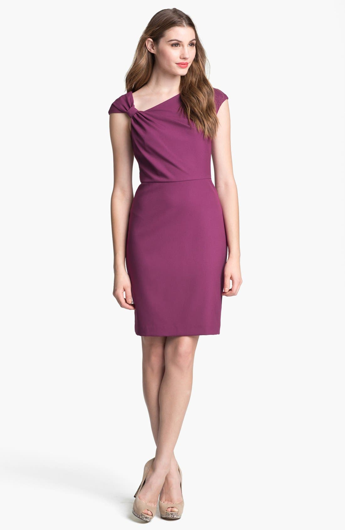 Main Image - Ivy & Blu Cap Sleeve Sheath Dress