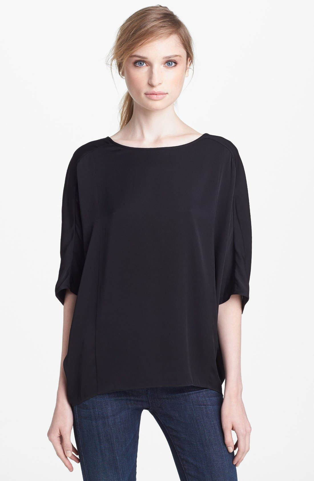 Main Image - Vince 'Sculptured' Stretch Silk Blouse