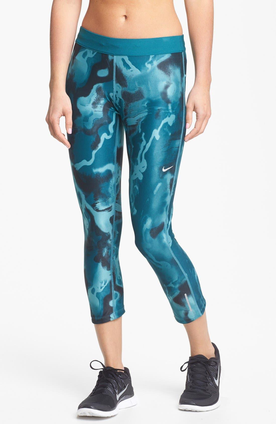 Alternate Image 1 Selected - Nike 'Twisty' Print Crop Running Pants
