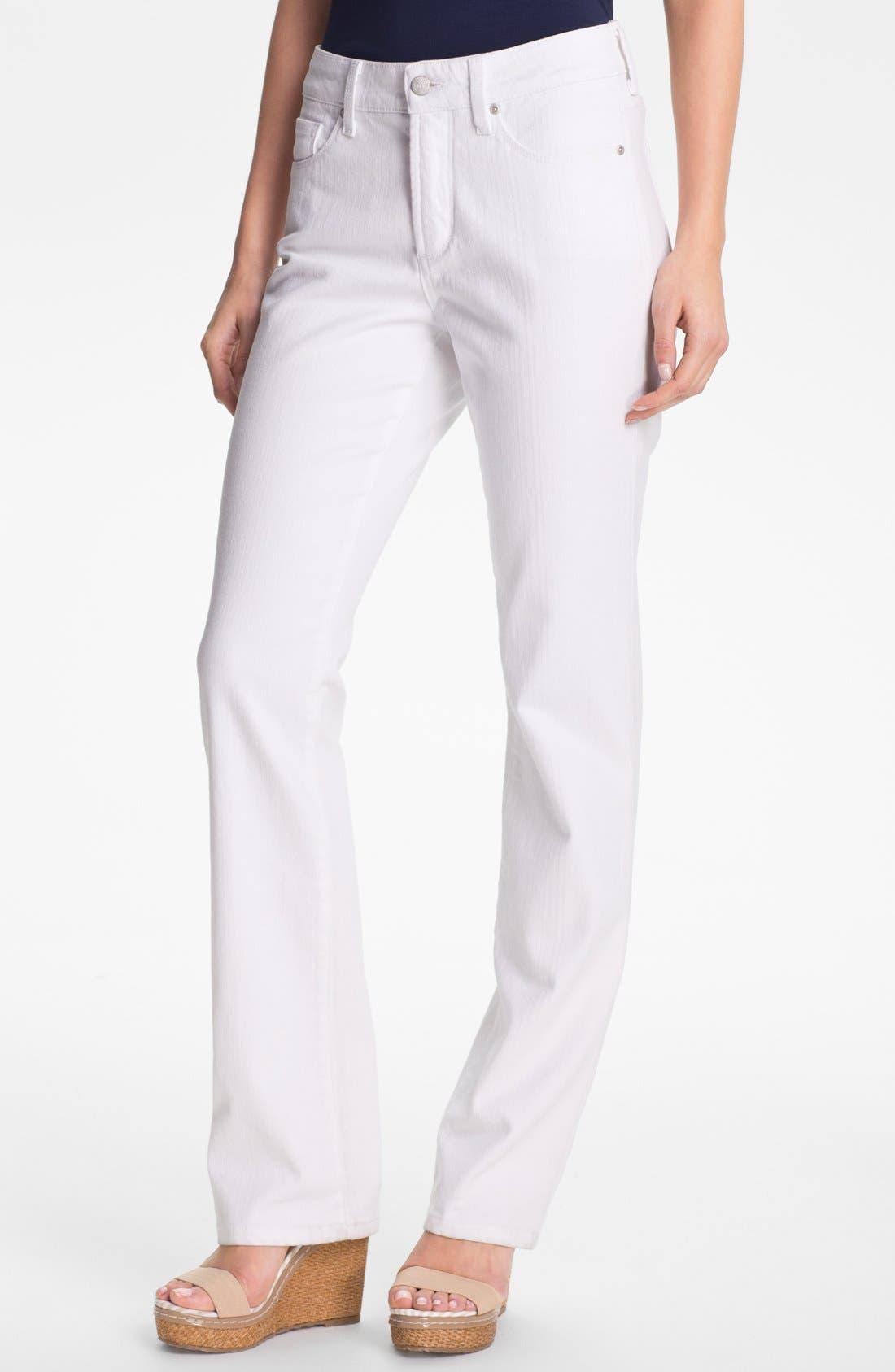 Alternate Image 1 Selected - NYDJ 'Marilyn' Straight Leg Stretch Jeans (Petite)