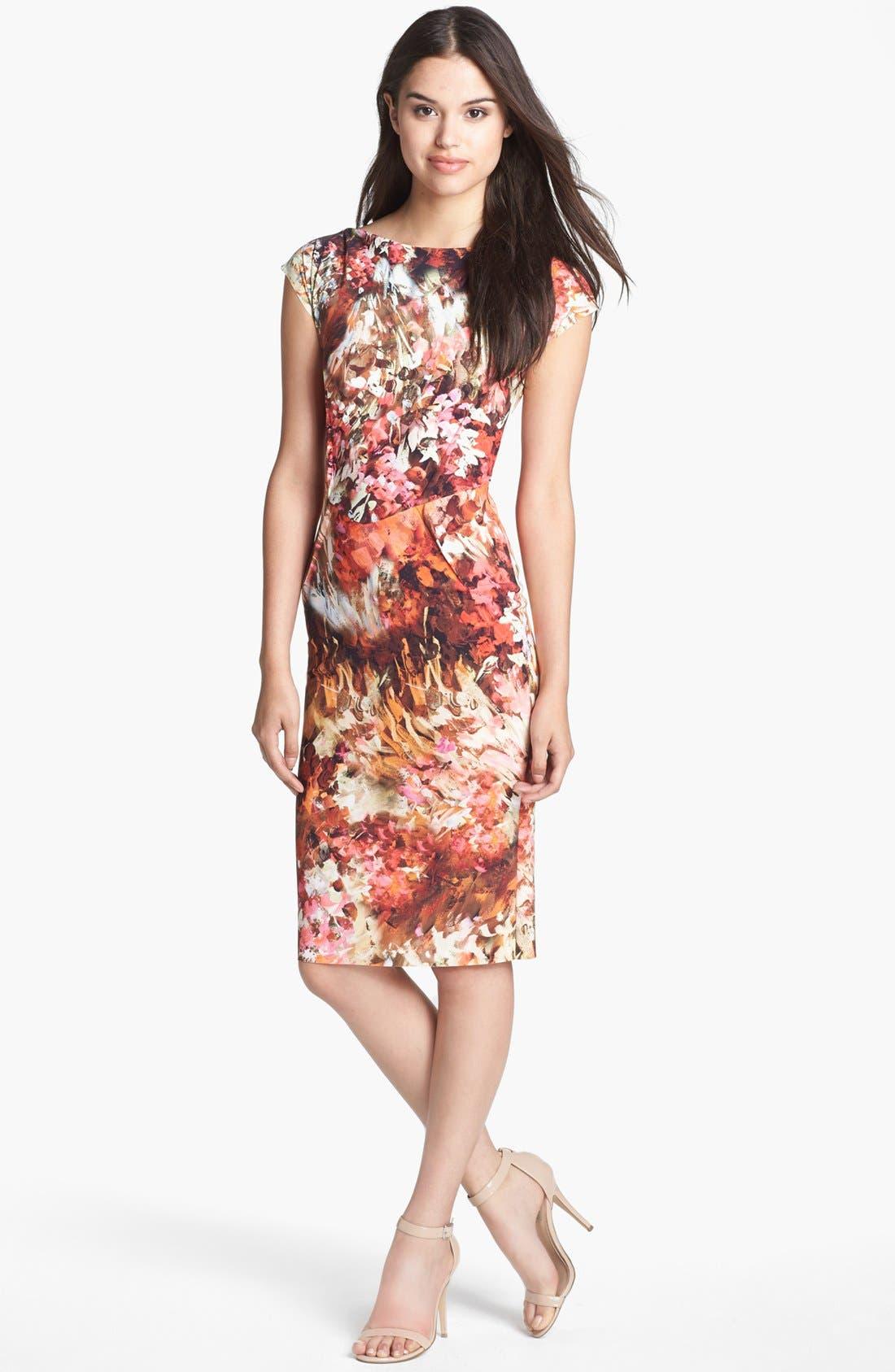 Alternate Image 1 Selected - La Petite Robe by Chiara Boni Print Jersey Sheath Dress