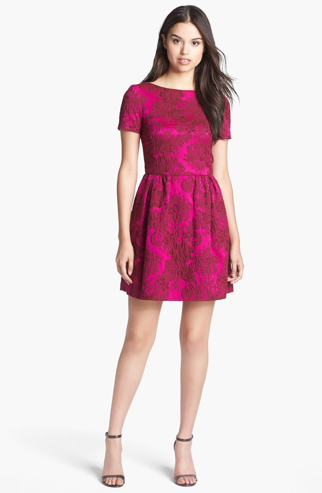 Alternate Image 1 Selected - Jill Jill Stuart Brocade Fit & Flare Dress