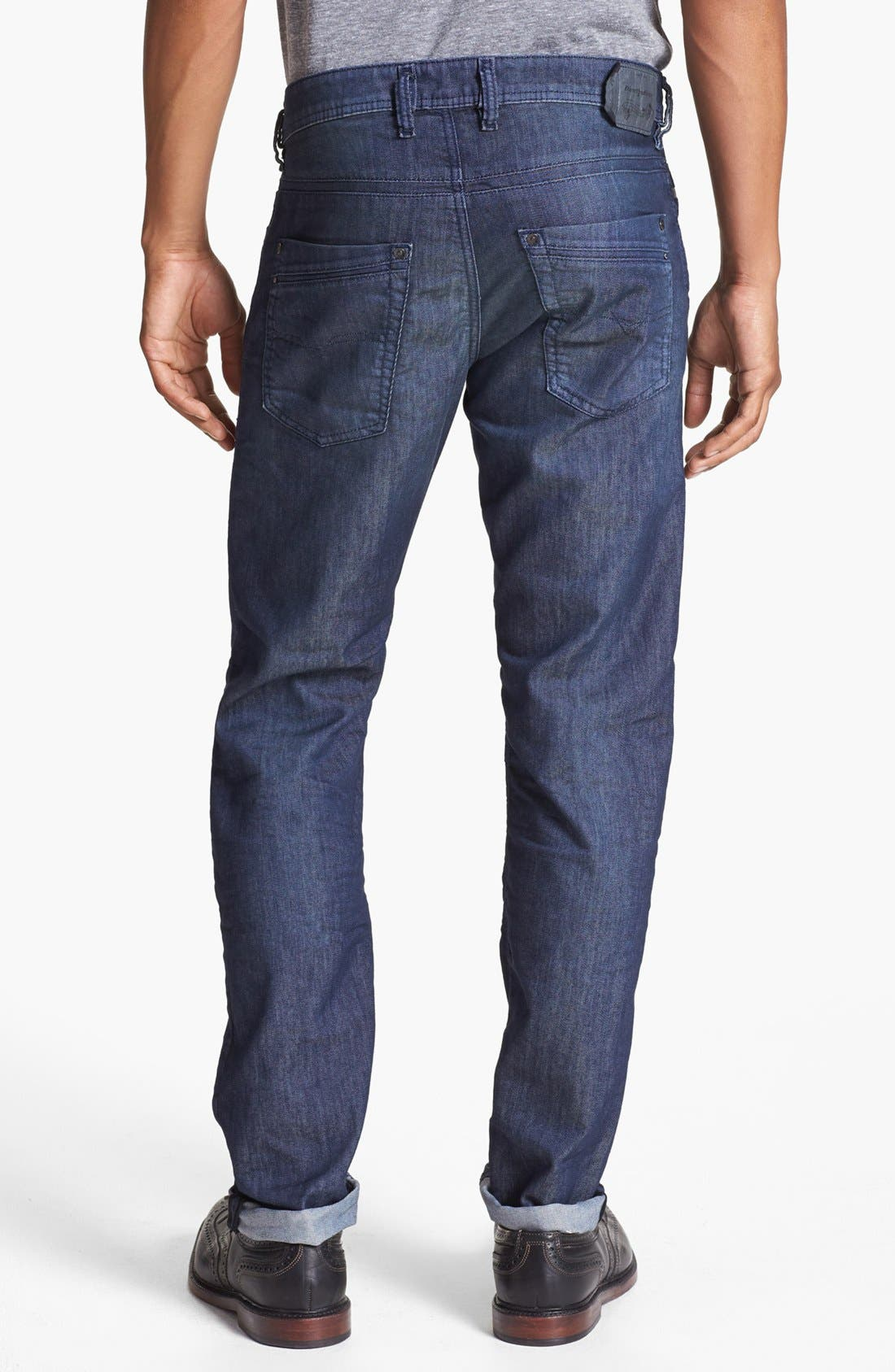 Alternate Image 1 Selected - DIESEL® 'Krayver' Slim Fit Selvedge Jeans (Blue)