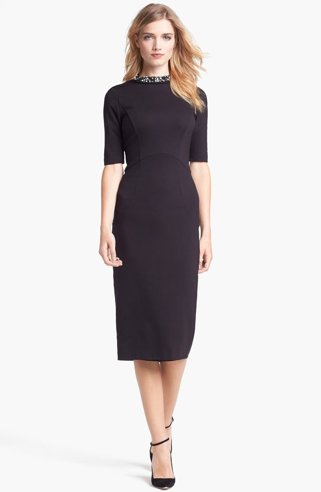 Alternate Image 1 Selected - Ted Baker London Stretch Knit Midi Dress