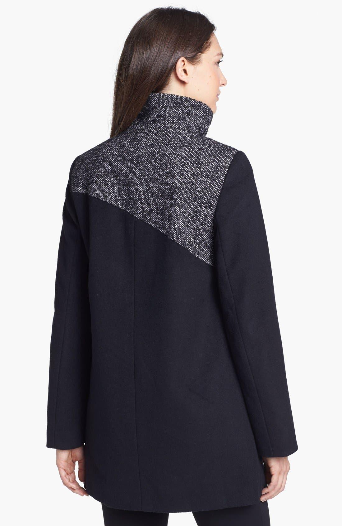 Alternate Image 3  - Ellen Tracy Contrast Yoke Wool Blend Coat