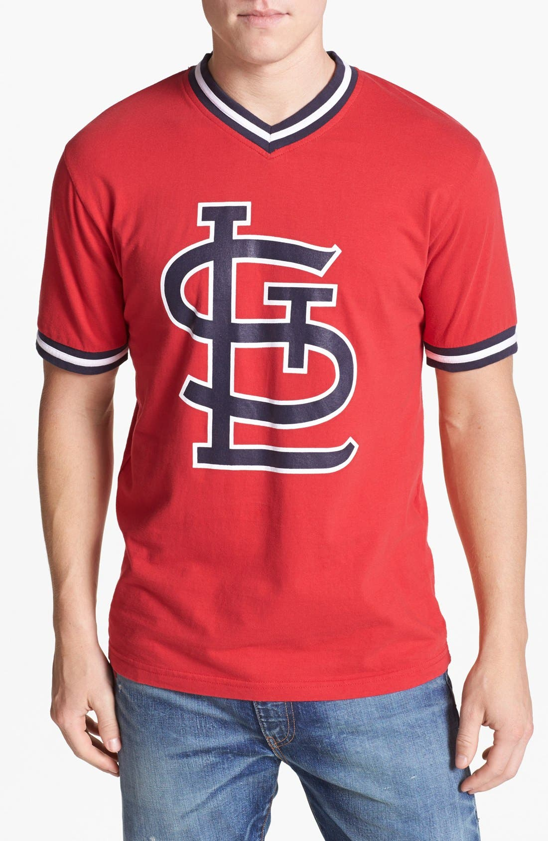 Alternate Image 1 Selected - Wright & Ditson 'St. Louis Cardinals' V-Neck T-Shirt