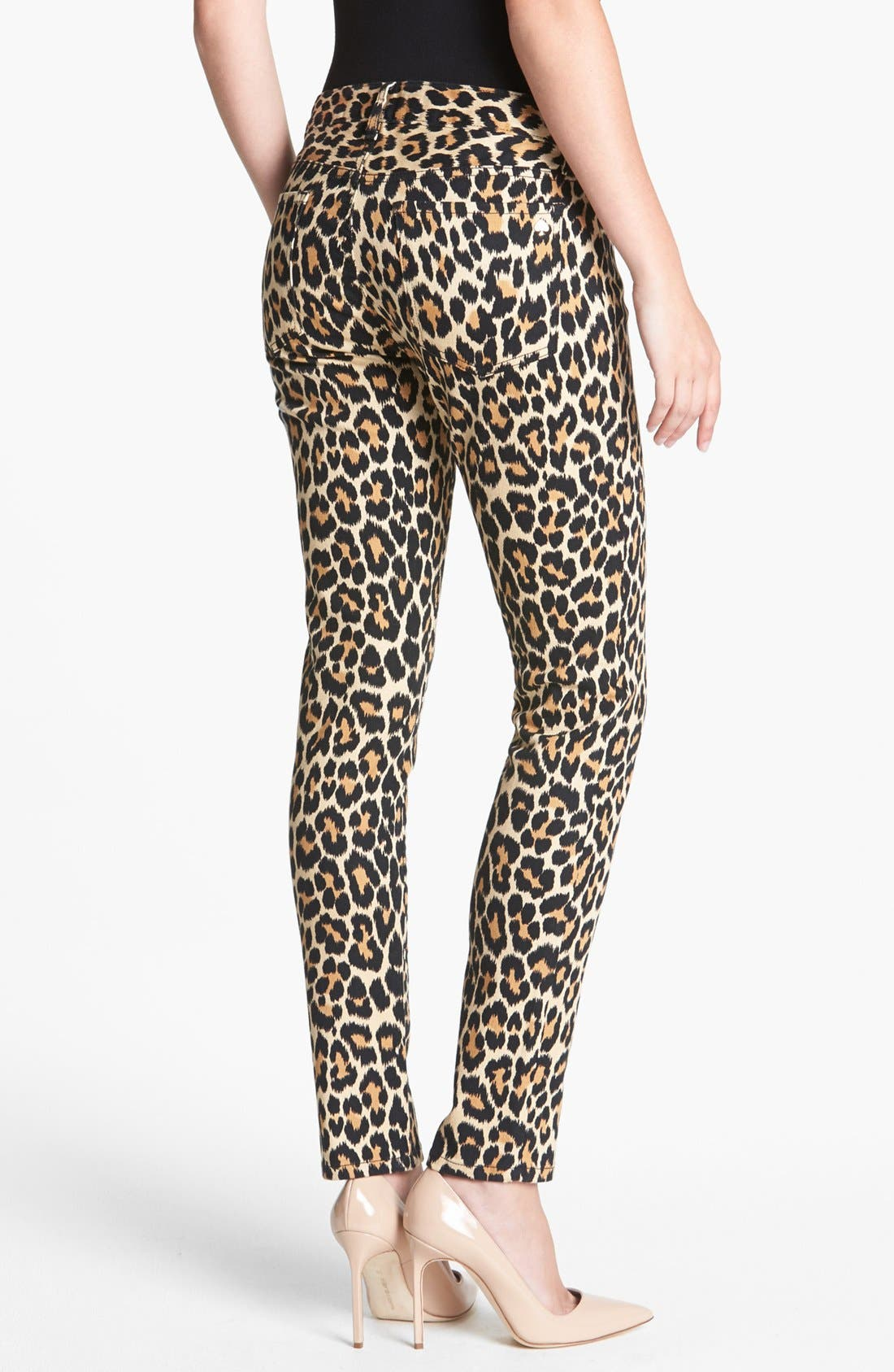 Alternate Image 2  - kate spade new york 'broome street' print slim stretch jeans (neutral ikat animal)