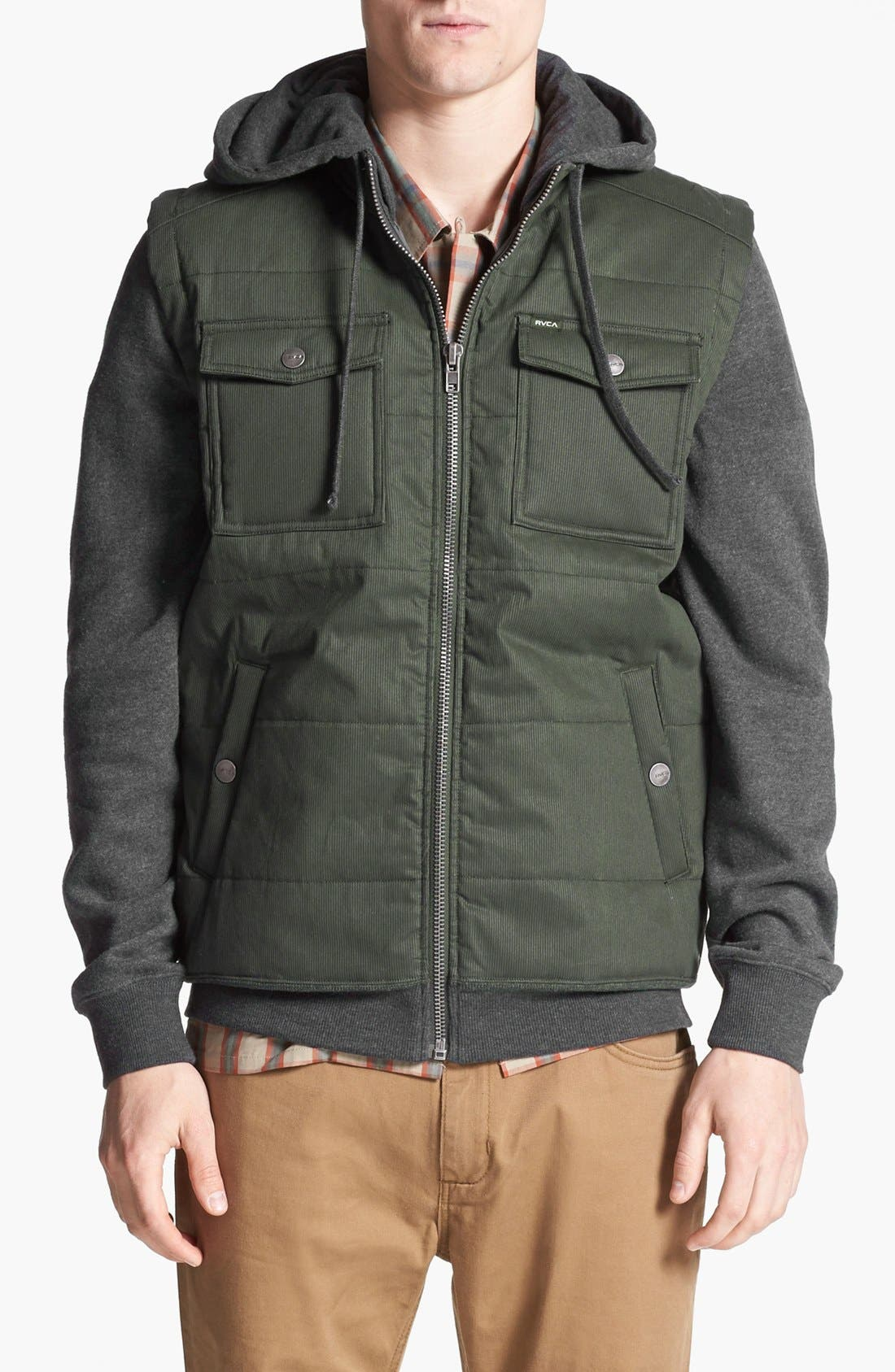 Alternate Image 1 Selected - RVCA 'Bedrod' Hooded Jacket