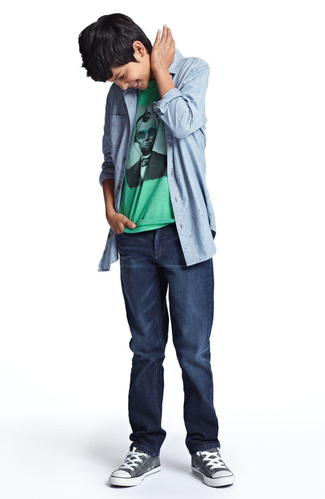 Alternate Image 1 Selected - Tucker + Tate Shirt, Jem T-Shirt & Volcom Jeans (Big Boys)