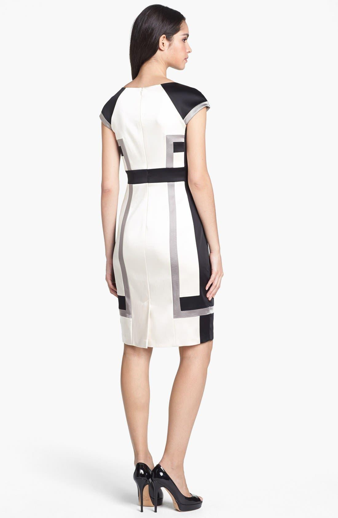 Alternate Image 2  - JAX Colorblock Cap Sleeve Sheath Dress