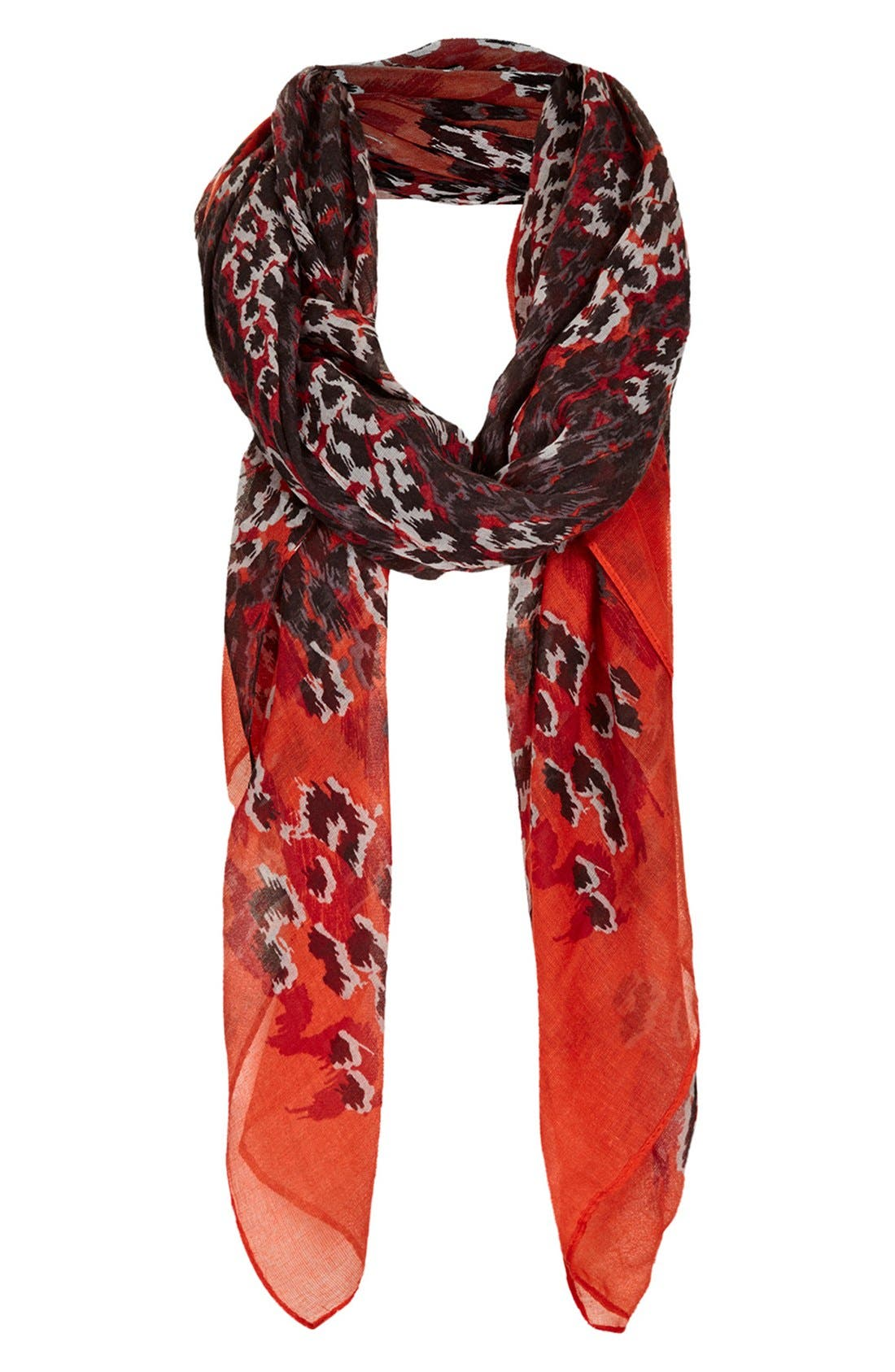 Main Image - Topshop Abstract Leopard Print Scarf
