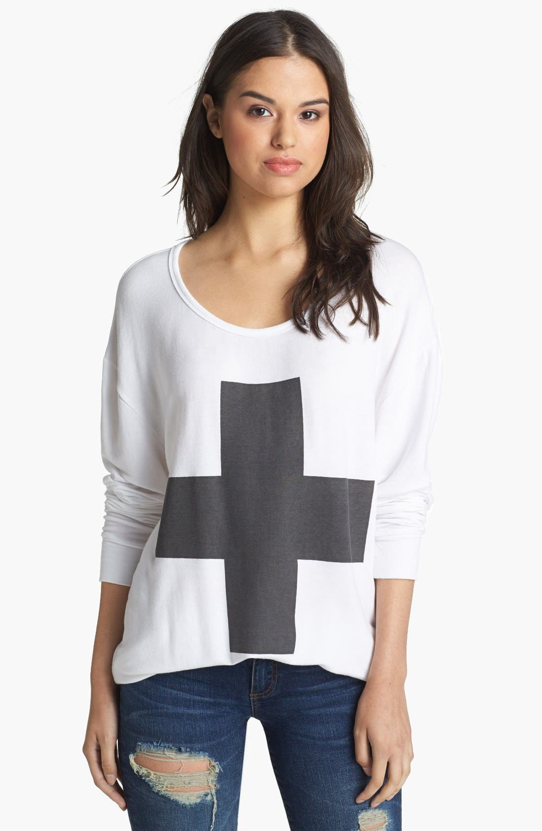 Alternate Image 1 Selected - Press Cross Graphic French Terry Sweatshirt