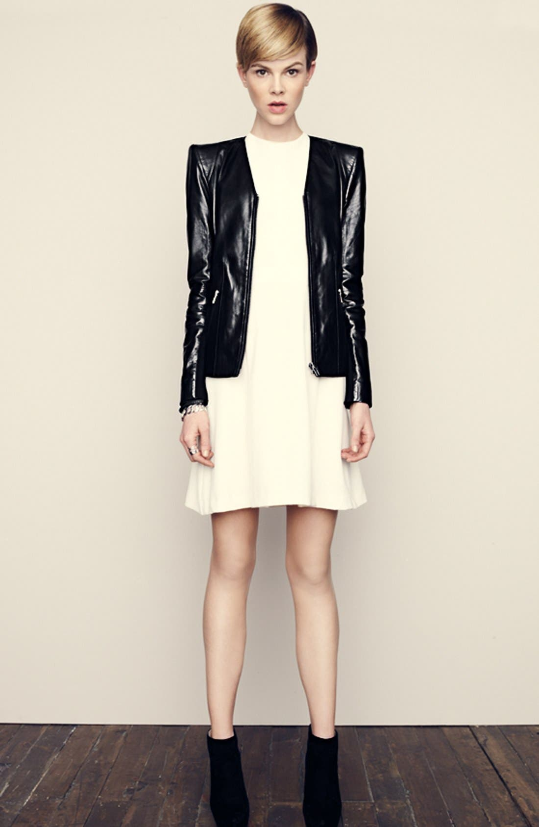 Alternate Image 6  - Trouvé Power Shoulder Leather Jacket