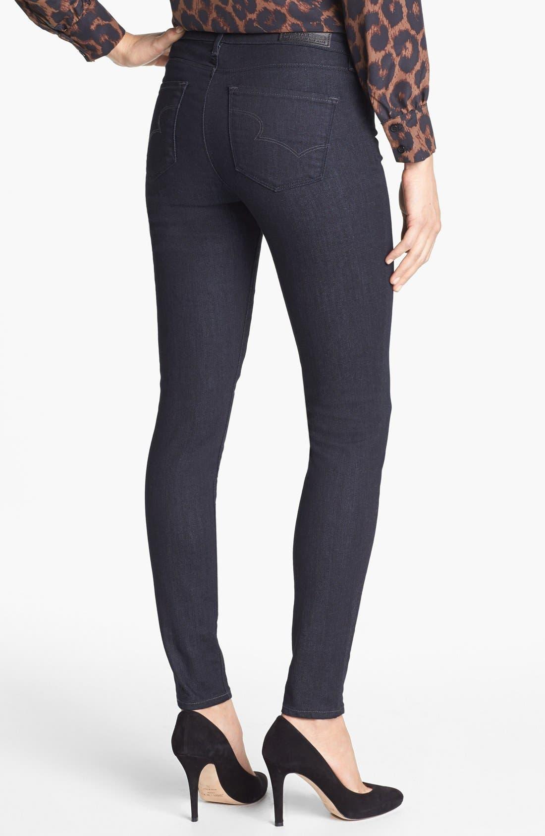 Alternate Image 2  - Big Star 'Alex' Stretch Skinny Jeans (Avignon) (Petite)