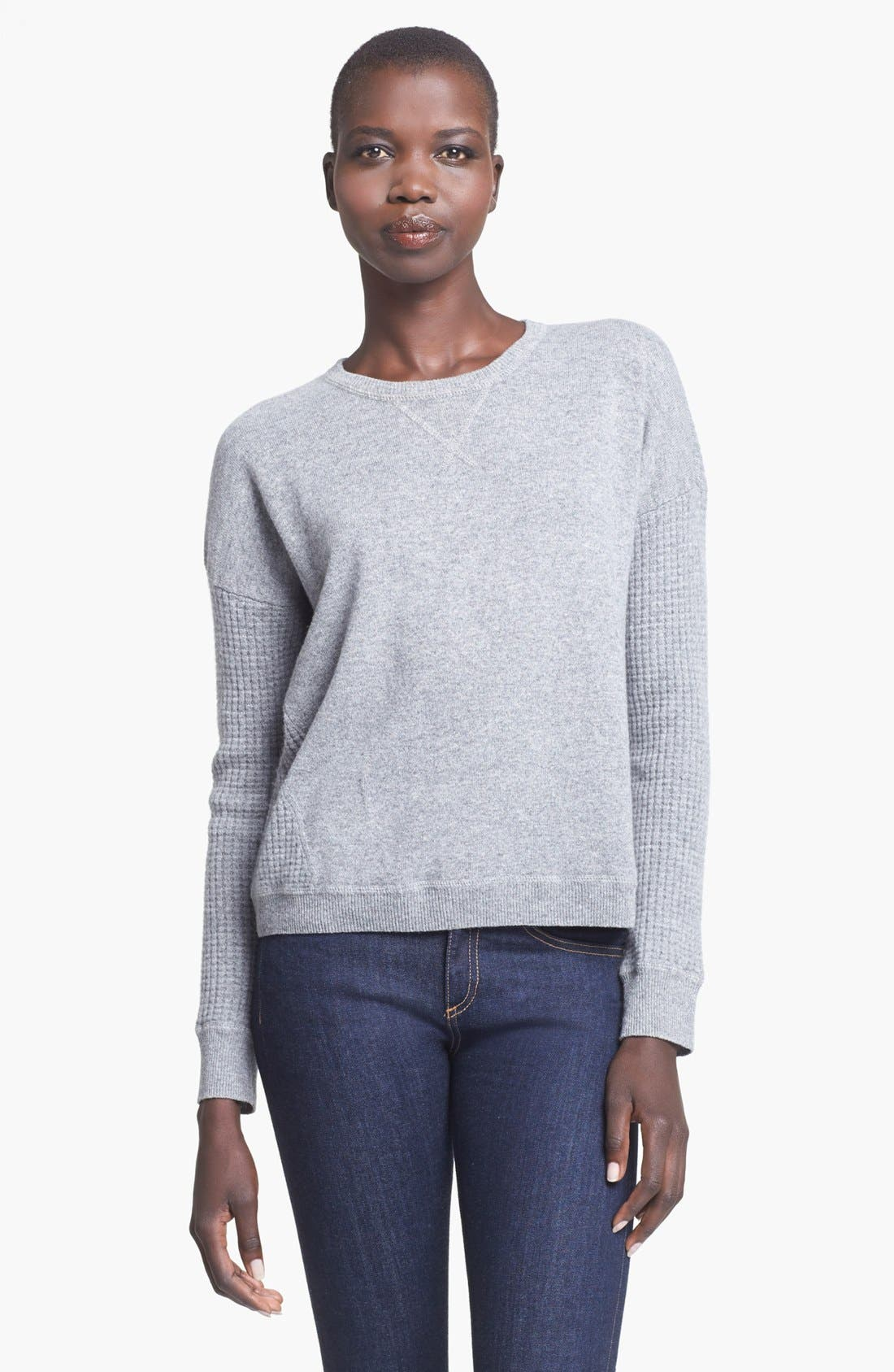 Main Image - autumn cashmere Thermal Cashmere Sweatshirt
